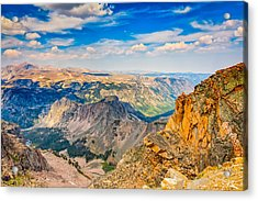 Acrylic Print featuring the photograph Beartooth Highway Scenic View by John M Bailey