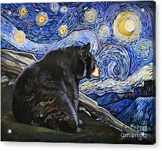 Beary Starry Nights Acrylic Print