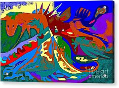 Beast In Colorful Coat Acrylic Print by Beebe  Barksdale-Bruner