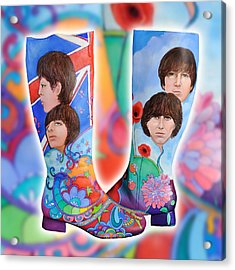 Beatle Boots Acrylic Print by Mary Johnson