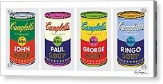 Beatle Soup Cans Acrylic Print