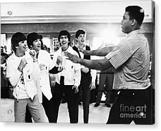 Beatles And Clay, 1964 Acrylic Print