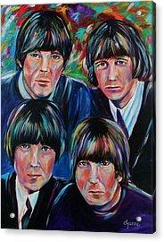 Beatles Acrylic Print by Dyanne Parker