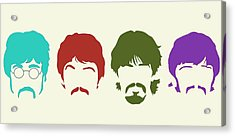 Beatles Acrylic Print by Elizabeth Coats
