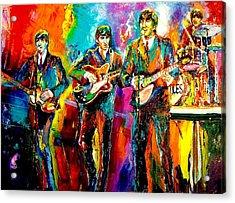Beatles  Acrylic Print by Leland Castro