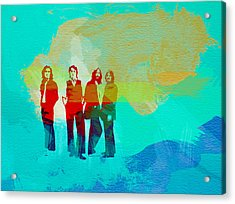 Beatles Acrylic Print by Naxart Studio