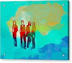 Beatles Acrylic Print by Naxart Studio
