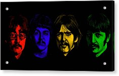 Beatles No 9 Acrylic Print by Brian Broadway