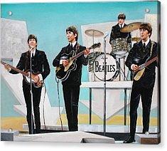 Beatles On Ed Sullivan Acrylic Print by Leland Castro
