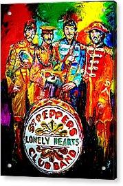 Beatles Sgt. Pepper Acrylic Print by Leland Castro