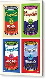 Beatles Soup Acrylic Print