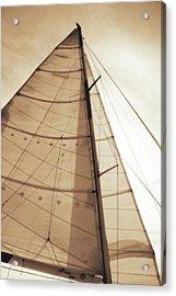 Beaufort Sails 1 Acrylic Print by Alan Hausenflock