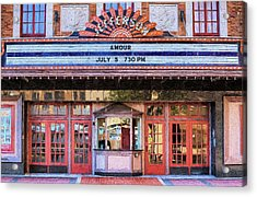 Acrylic Print featuring the digital art Beaumont Jefferson Theater by JC Findley