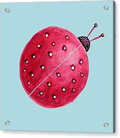 Beautiful Abstract Watercolor Ladybug Acrylic Print