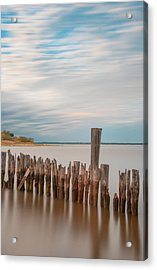 Beautiful Aging Pilings In Keyport Acrylic Print by Gary Slawsky