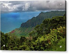 Beautiful And Illusive Kalalau Valley Acrylic Print