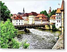 Beautiful Bamberg On The River Acrylic Print