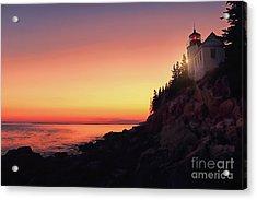 Beautiful Bass Harbor Lighthouse Acrylic Print