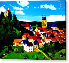 Beautiful Bavarian Village Acrylic Print
