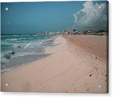 Beautiful Beach In Cancun, Mexico Acrylic Print