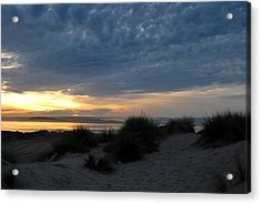Beautiful Beach San Dunes Sunset And Clouds Acrylic Print
