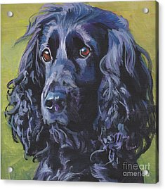 Acrylic Print featuring the painting Beautiful Black English Cocker Spaniel by Lee Ann Shepard