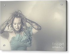 Beautiful Blond Woman With Messy Hairstyle Acrylic Print