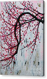 Acrylic Print featuring the painting Beautiful Blossoms by Natalie Briney