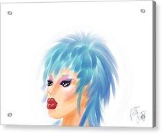 Beautiful Blue Acrylic Print by Ronald Terrel
