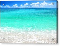 Beautiful Blue Sea Beach Acrylic Print
