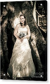 Beautiful Bride At Outback Wedding In Australia Acrylic Print