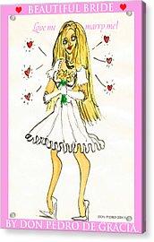 Beautiful Bride Acrylic Print by Don Pedro De Gracia