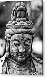 Beautiful Buddha Statue Portrait With Shallow Depth Of Field For Acrylic Print by Matthew Gibson