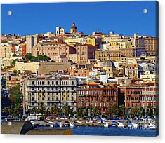 Beautiful Cagliari Acrylic Print by Sue Melvin