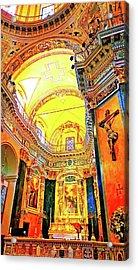 Beautiful Church In Nizza Acrylic Print