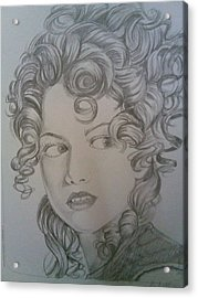 Beautiful Curls Acrylic Print by Nischitha Shenoy