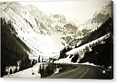 Beautiful Curving Drive Through The Mountains Acrylic Print by Marilyn Hunt