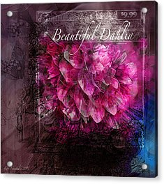 Beautiful Dahlia Acrylic Print