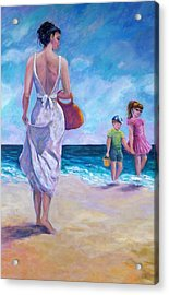 Beautiful Day At The Beach Acrylic Print