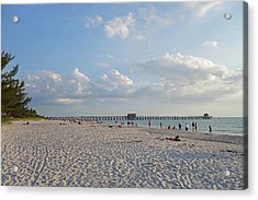 Beautiful Day On Naples Beach Naples Florida Acrylic Print