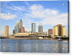 Beautiful Day Tampa Bay Acrylic Print by David Lee Thompson