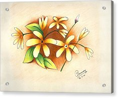 Beautiful Flowers Acrylic Print by Tanmay Singh