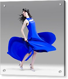 Beautiful Girl In Exquisite Fashion Style Dance Acrylic Print