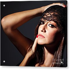 Beautiful Glamor Female Portrait Acrylic Print