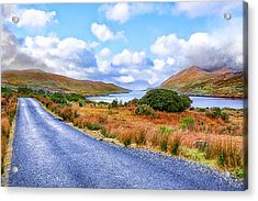 Beautiful Irish Countryside Of County Galway Acrylic Print by Mark E Tisdale