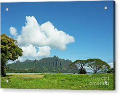 Beautiful Kualoa Ridge Acrylic Print