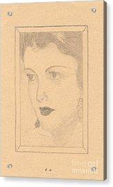 Beautiful Lady Face Acrylic Print