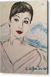 Beautiful Leslie Acrylic Print by N Willson-Strader