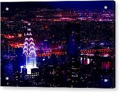 Beautiful Manhattan Skyline Acrylic Print by Az Jackson