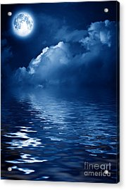 Beautiful Mysterious Moon Acrylic Print by Boon Mee